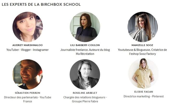 les experts de la birchbox