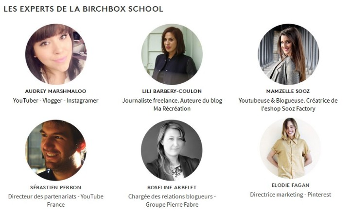 les experts de la birchbox