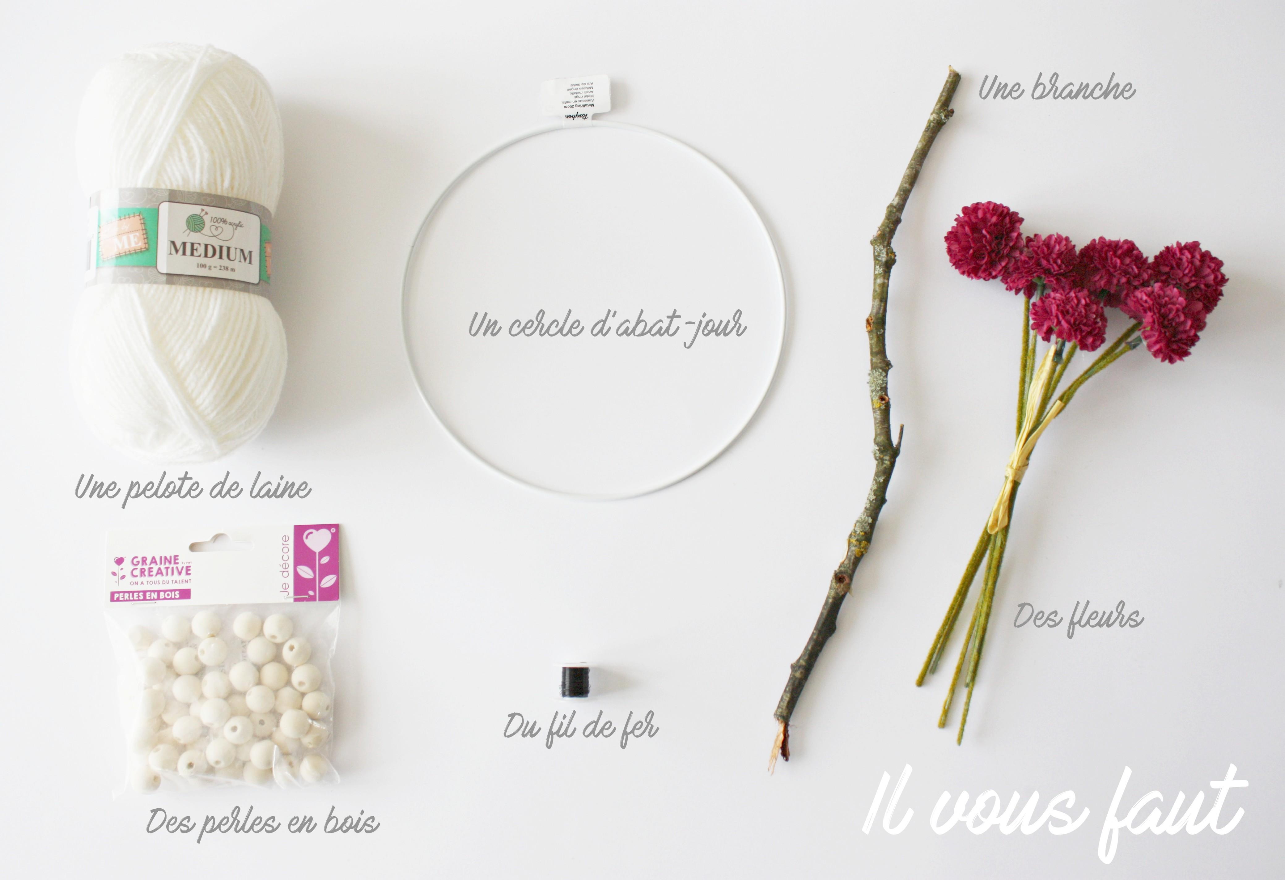 diy de printemps un attrape r ve fleuri. Black Bedroom Furniture Sets. Home Design Ideas