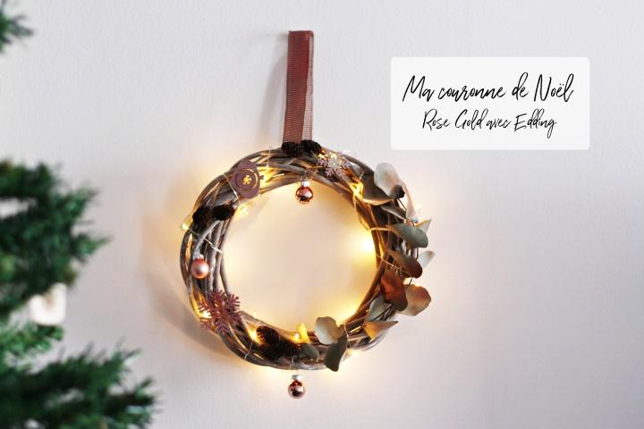 DIY EXPRESS : ma couronne de Noël avecEdding
